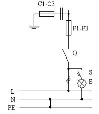 Припципиальная схема ВРУ, панели 3BР-1-25-0-31, 3BР-1-40-0-31, 3BР-1-63-0-31