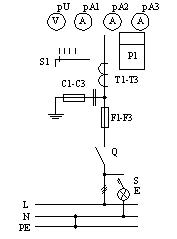Припципиальная схема ВРУ, панели 3BР-2-25-0-31, 3BР-2-40-0-31, 3BР-2-63-0-31