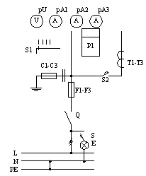 Припципиальная схема ВРУ, панели 3BР-3-25-0-31, 3BР-3-40-0-31, 3BР-3-63-0-31