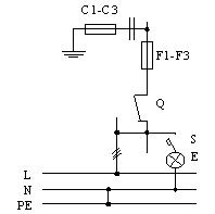 Припципиальная схема ВРУ, панели 3BР-4-25-0-31, 3BР-4-40-0-31, 3BР-4-63-0-31