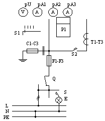 Припципиальная схема ВРУ, панели 3BР-6-25-0-31, 3BР-6-40-0-31, 3BР-6-63-0-31