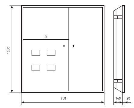 щит этажный размеры габариты